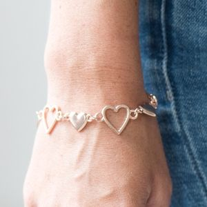 """Heart To Handle"" - Rose Gold Heart Bracelet"